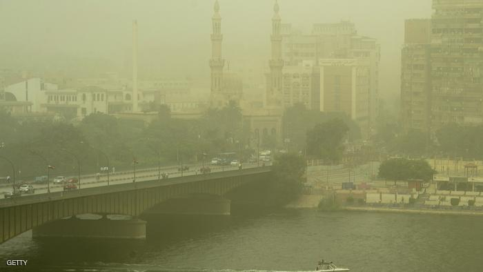 A picture taken on September 8, 2015 shows a general view of the Egyptian capital Cairo during a thick cloud of dust as a sandstorm engulfs parts of the Middle East. Large parts of Lebanon, Israel and Cyprus were shrounded in a thick cloud of dust that meteorologists said had swept in from Iraq and Syria. AFP PHOTO / KHALED DESOUKI        (Photo credit should read KHALED DESOUKI/AFP/Getty Images)